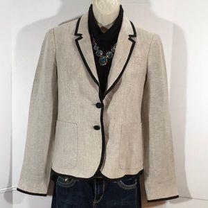 J. Crew linen schoolboy blazer